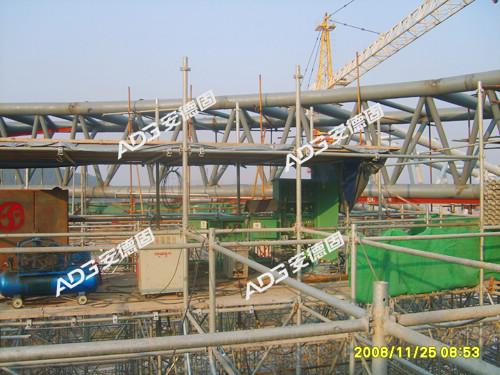 山东济南十运会自行车馆钢结构支撑工程