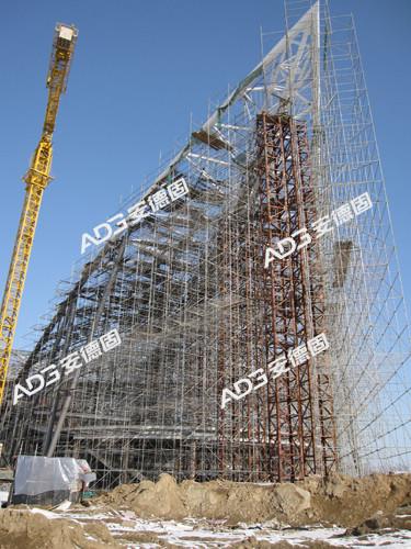钢结构支撑架用于第七届花博会交易中心